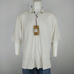 Jamaica Jaxx NWT white men's short sleeve polo